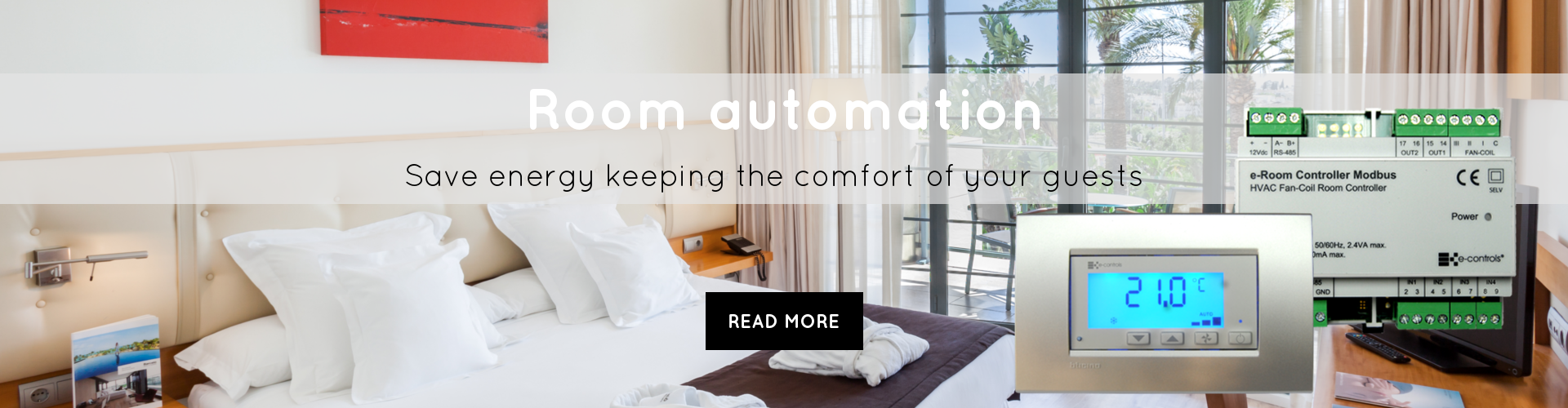 Room automation save energy keeping the comfort of your guests