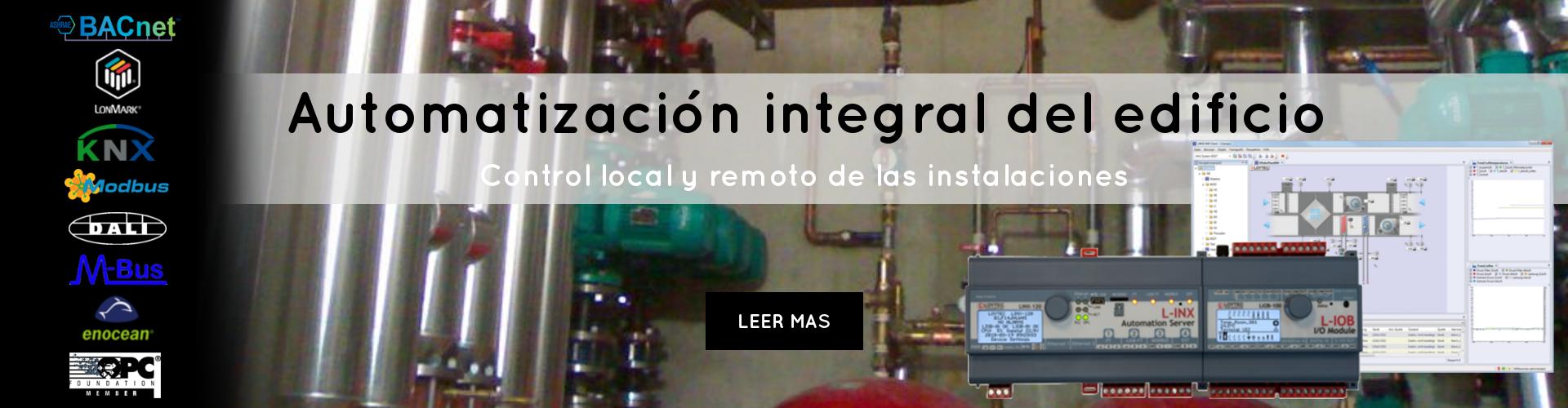 automatizacion integral del edificio control local y remoto de instalaciones