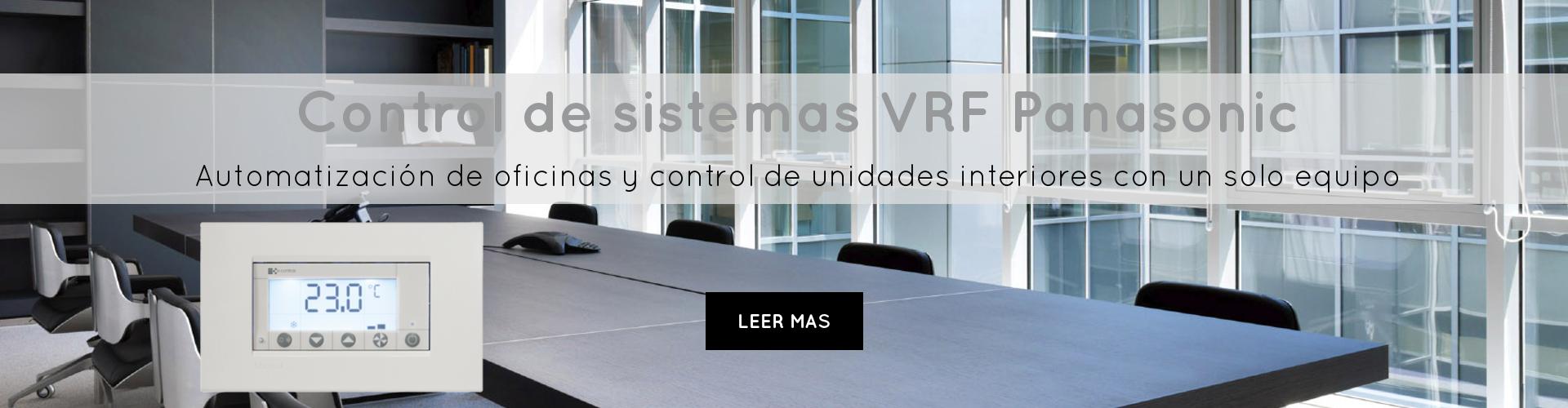 control de sistemas vrf panasonic automatización de oficinas y control de unidades interiores con un solo equipo