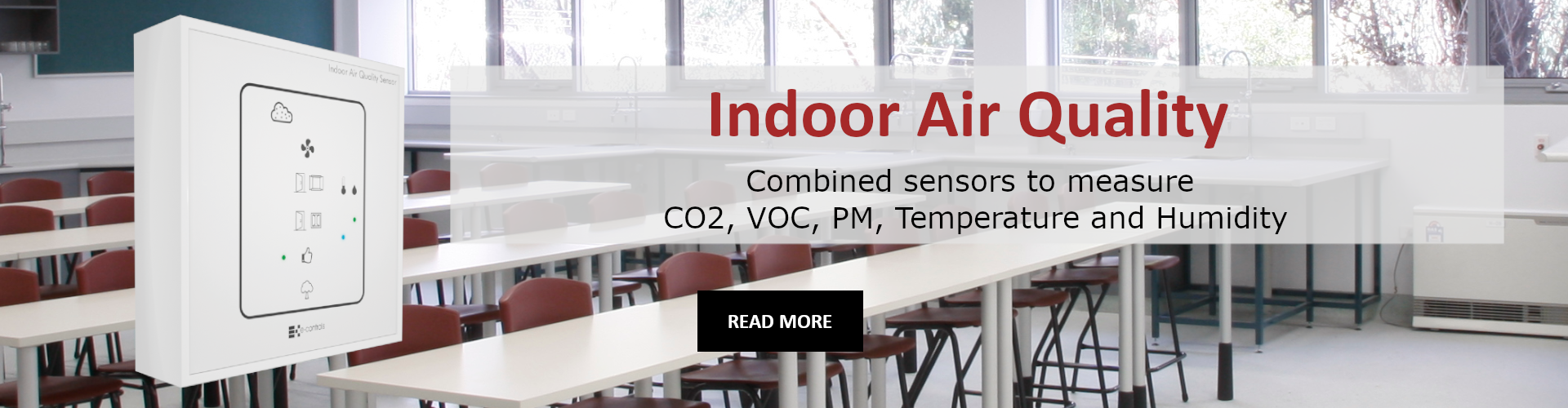 Indoor Air Quality Combined sensors to measure CO2, VOC, PM, Temperature and Humidity